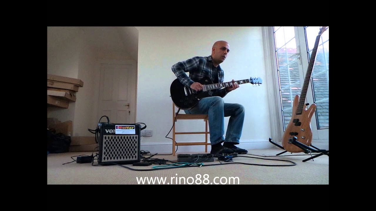 electric guitar blues from hasguitar rino88 les paul vox mini amp digitech and loop pedal youtube. Black Bedroom Furniture Sets. Home Design Ideas