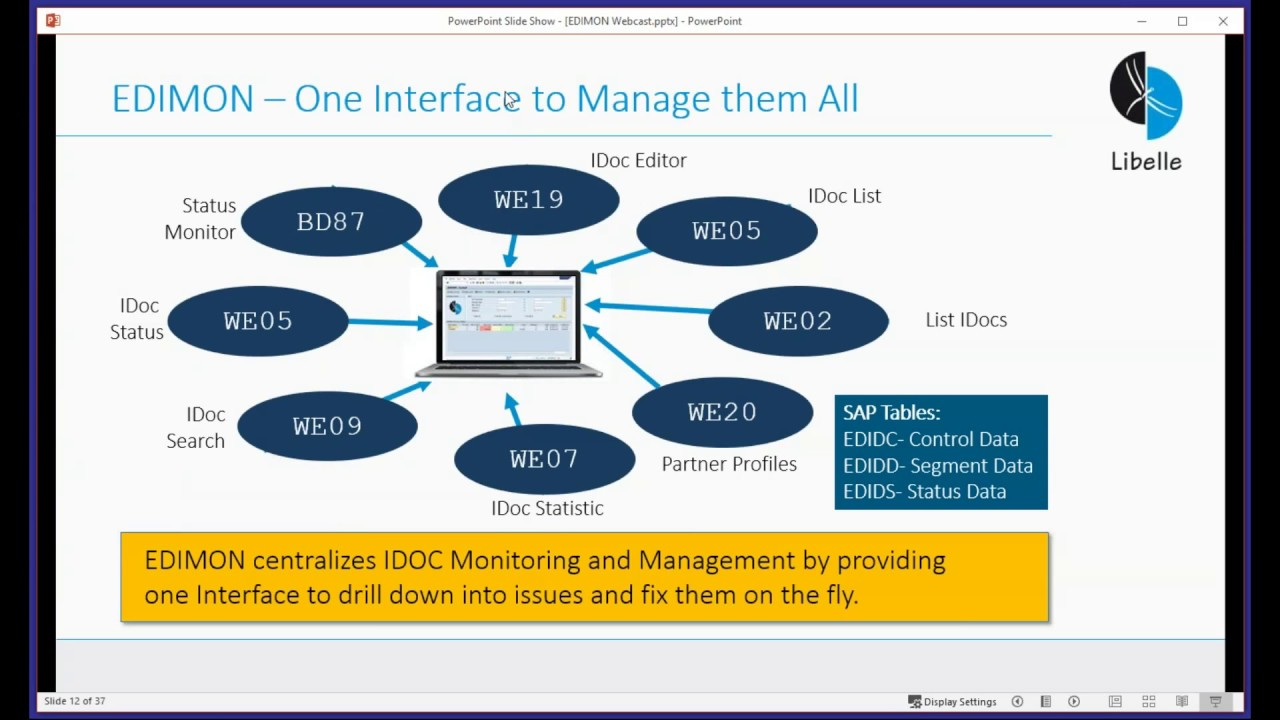 Building Blocks for Automated IDoc Monitoring and Management