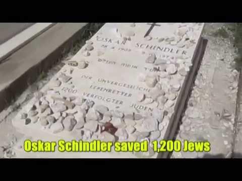 Oskar Schindler's Grave on Mount Zion, Jerusalem, Israel