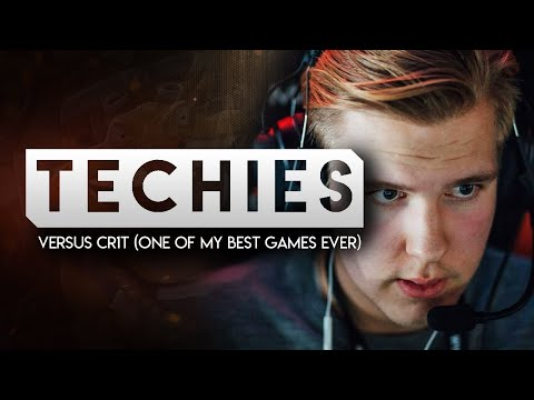 TECHIES Versus Cr1t (One of my best games ever) MUST WATCH