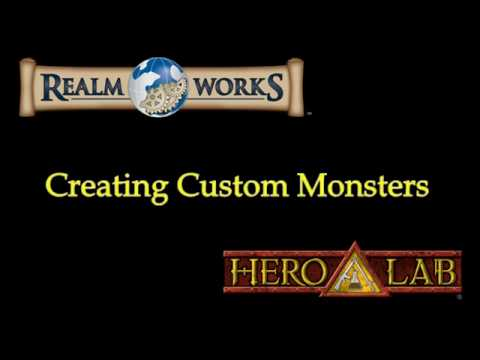 Realm Works and Hero Lab - Creating Custom Monster