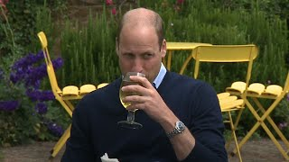 video: Prince William's pub pint wish comes true after lockdown