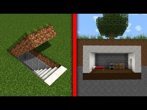Minecraft Titkos Földalatti Ház Építés