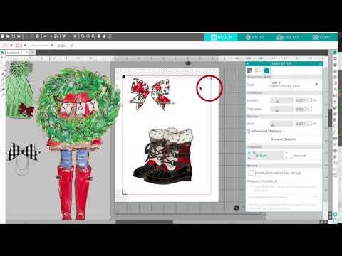 The Planner Society 2017 Christmas Digital Kit - Stickers, Die Cuts (Silhouette Studio Tutorial)