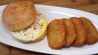 McDonald's Style Breakfast,Hash Brown,Egg McMuffins By Recipes of the World
