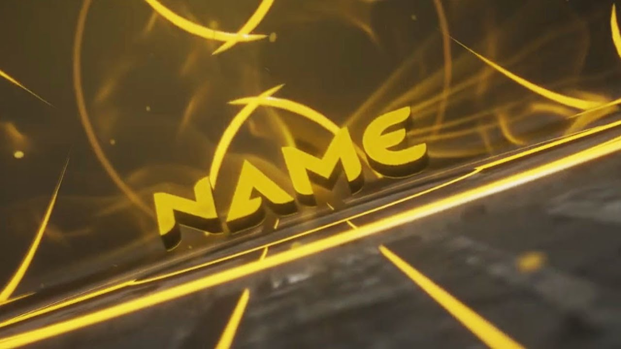 FREE Yellow Style Intro Template #998 Blender Only  + Tutorial
