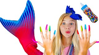 Mermaid Maggie Pretend Play Magic Nails