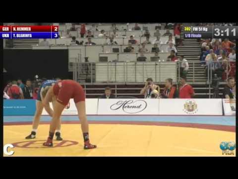 2013 WOCS 51kg Women 1/8 Finale Nina Hemmer (GER) - BLAHINYA, Yuliya (UKR)