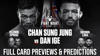 UFC Fight Night: The Korean Zombie vs. Ige Full Card Previews & Predictions