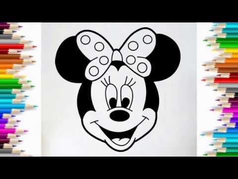 Cùng Bé Tập Vẽ Chuột Minnie dể thương | HOW TO DRAW MINNIE MOUSE