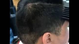 Hair transformation # 97 A Korean man got his long puff chopped