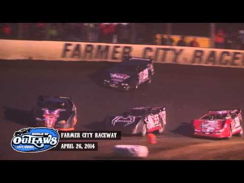 "Highlights: World of Outlaws Late Model Series ""Illini 100"" Farmer City Raceway April 26th, 2014"