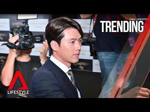 Korean stars Hyun Bin and Jang Donggun on the Rampant red carpet in Singapore  CNA Lifestyle