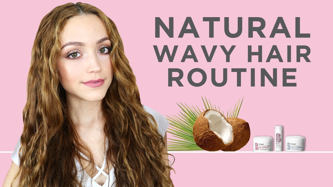 Natural Wavy Curly Hair Care Routine With Kathleenlights Youtube