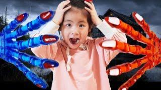 쭉쭉 늘어나요!! 서은이의 다양한 액체괴물 손모양 끈끈이 액괴 만들기 Pretend Play Slime Hand for Kids