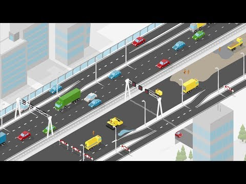 Animation major road works A10 West Amsterdam (English subtitles)