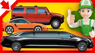 Cartoon about cars - Handy Andy buys a new car - Little Smart Kids