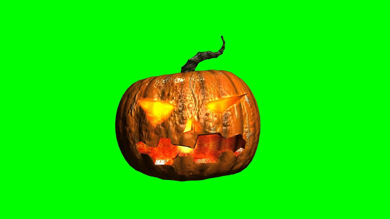 pumpkin with a candle halloween free green screen effects bestgreenscreen