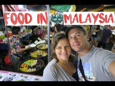 Essen am Markt in Malaysia 🍴 KUALA LUMPUR | Köstlichkeiten am Abendmarkt | WELTREISE mit 4 KINDERN
