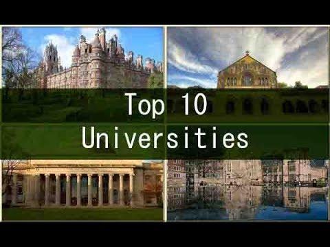 Top 10 universities in UK 2017-18