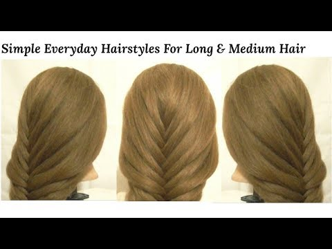 Simple Hairstyles For Long & Medium Hair For Party