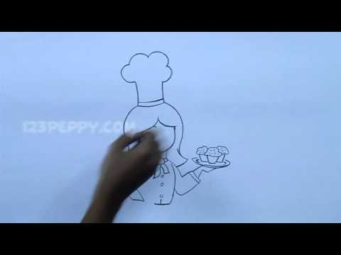 How To Draw A Girl With Cupcake