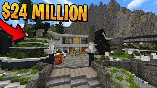Hillside Minecraft Redstone Mansion Seed