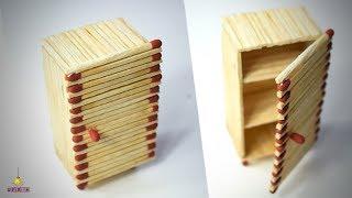 DIY Miniature Refrigerator (Made with Match Sticks!) FREEZER/ALMIRA | Matchstick Art & Craft by F8ik