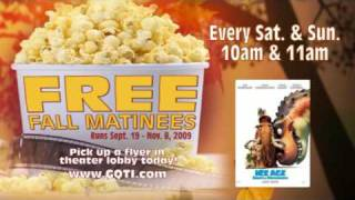 Free Fall Matinees at Goodrich Quality Theaters