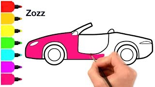 New Drawing Easy Car 2018 and Coloring Pages - Coloring Book - Art for Kids - By Zozz