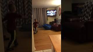 4 year old doing the kidz bop shuffle