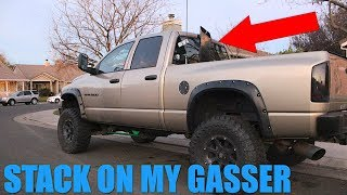 I PUT A STACK ON MY GAS TRUCK!?