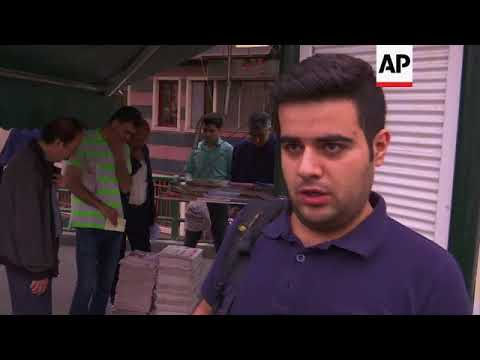Newspaper headlines and vox pops in Tehran on Trump's decision
