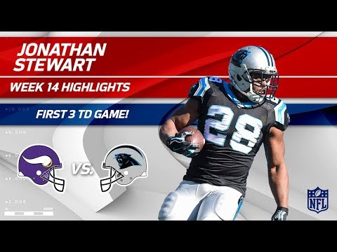 Jonathan Stewart's 3 TD Game, 1st Time in Career! | Vikings vs. Panthers | Wk 14 Player Highlights