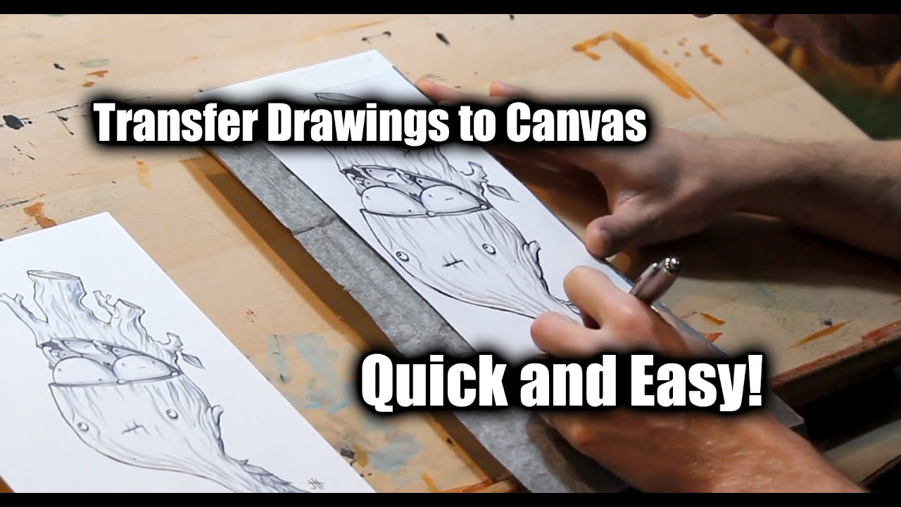 how to transfer your sketch to canvas justin hillgrove imps and