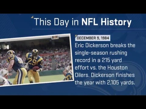 Eric Dickerson Breaks Single-Season Rushing Record | This Day in NFL History (12/9/84)