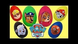paw patrol playdoh egg surprises with chase skye rubble marshall mashems tuyc