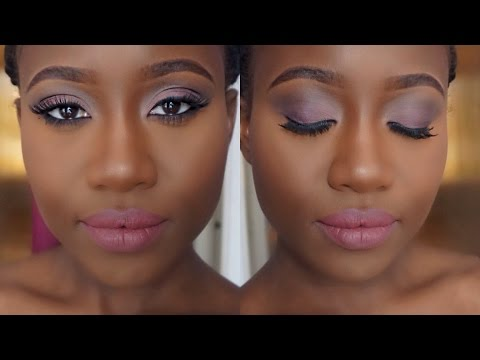 Matte Pink & Purple Eyes + Lips Makeup for Beginners Beauty how to | JASMINE ROSE