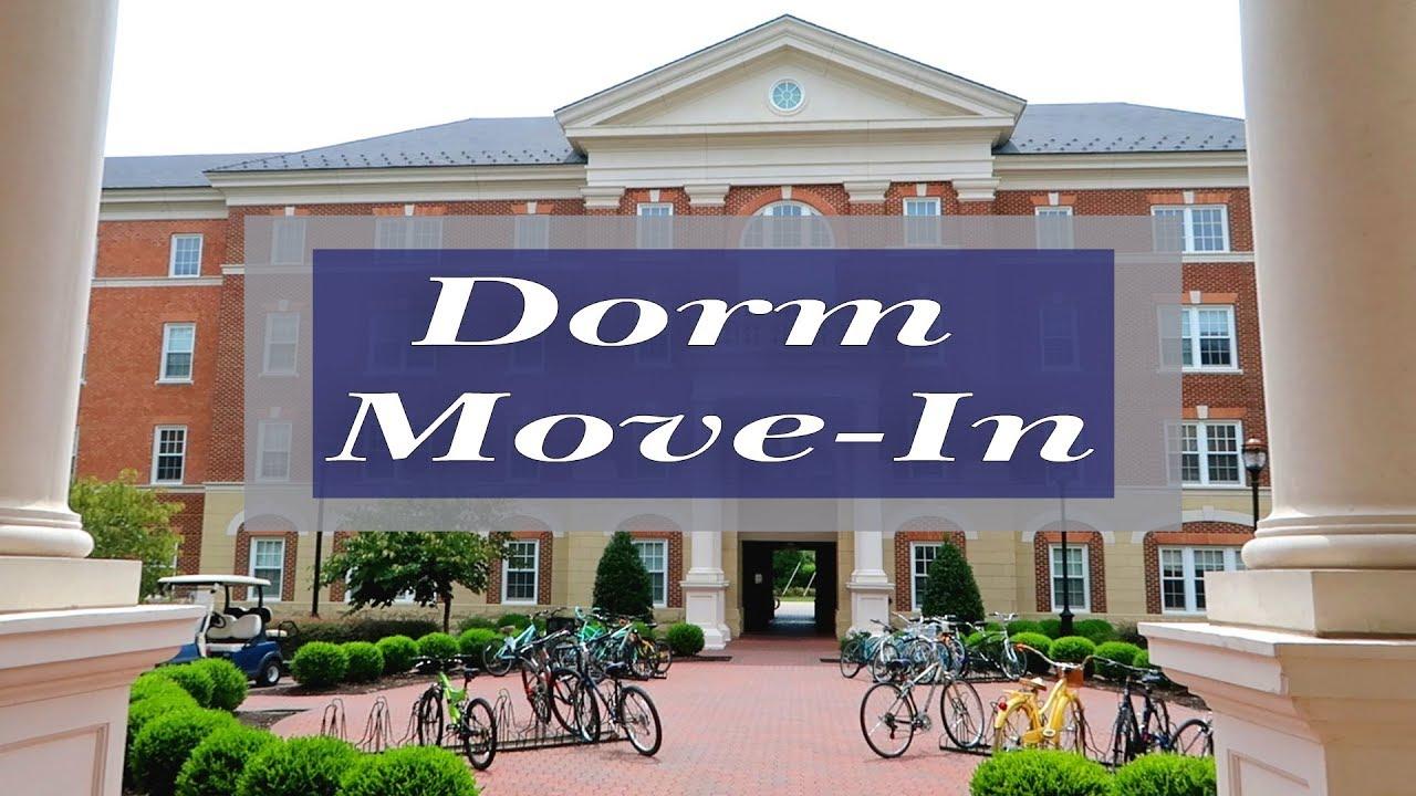 Cnu Dorm Move In Rappahannock River Hall Christopher Newport University Youtube