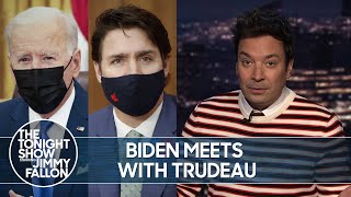 Biden Meets with Trudeau, New Jersey Legalizes Marijuana | The Tonight Show