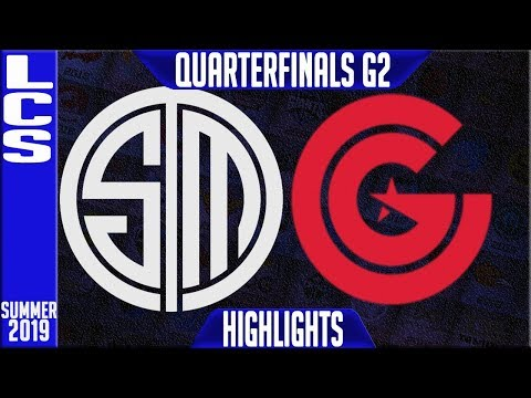 TSM vs CG Highlights Game 2 | LCS Summer 2019 Playoffs Quarterfinals | Team Solomid vs Clutch Gaming
