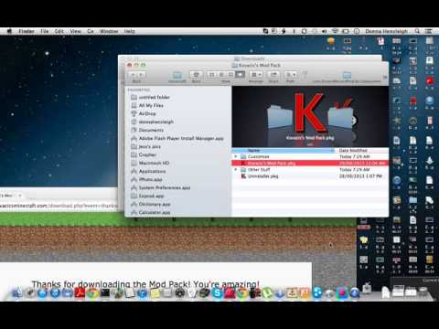 how to add mod packs to minecraft mac