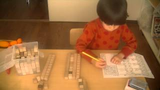 鶴田式算数, しんちゃん(年中)繰り上がり繰り下がりのお勉強 その後パ...