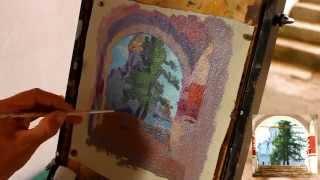 Немного о пленэре в архитектурной среде - Обучение живописи. Масло. Введение, 24 серия