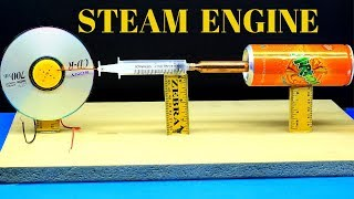 How To Make a Free Energy Steam Engine At Home - Free Energy Steam Engine