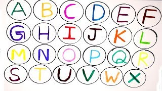 ABC Song For Kids - abcdefghijklmnopqrstuvwxyz - Learn to write Alphabet a to z with Colored Markers