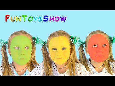 Thumbnail: Learn colors with Colored Faces and M&M | Nursery Rhymes & Color FACE