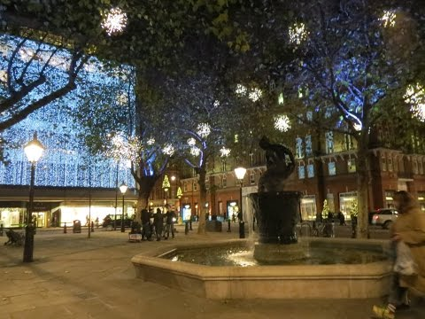 Chelsea London Christmas Lights Sloane Square + Duke of York Square