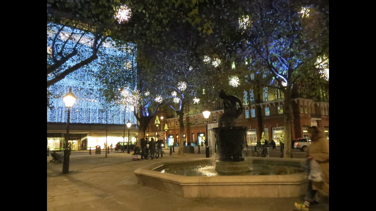 Chelsea London Christmas Lights Sloane Square Duke Of