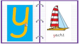 Lowercase Alphabet Letter Y Learn to Read and Write